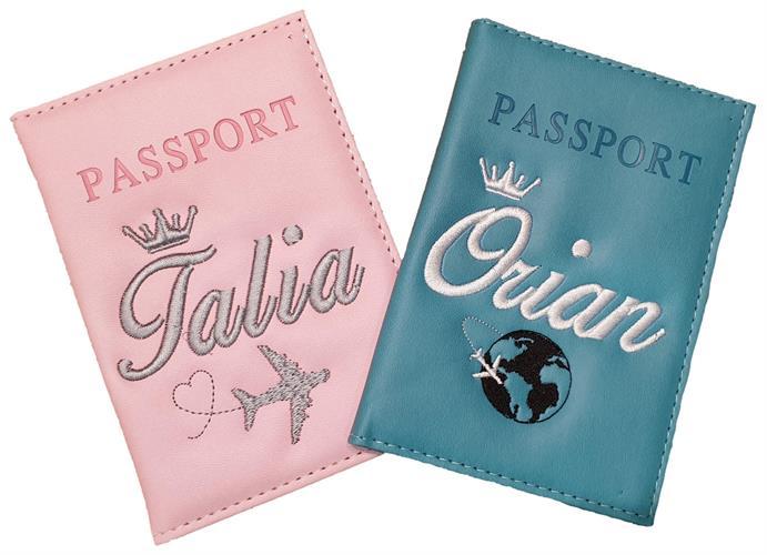 כיסוי דרכון עם רקמה אישית