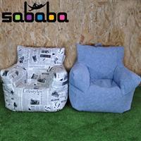 סבבה פוף כורסא גדולה לכל גיל מעוצבת בסגנון ג'ינס מבד נעים ואיכותי