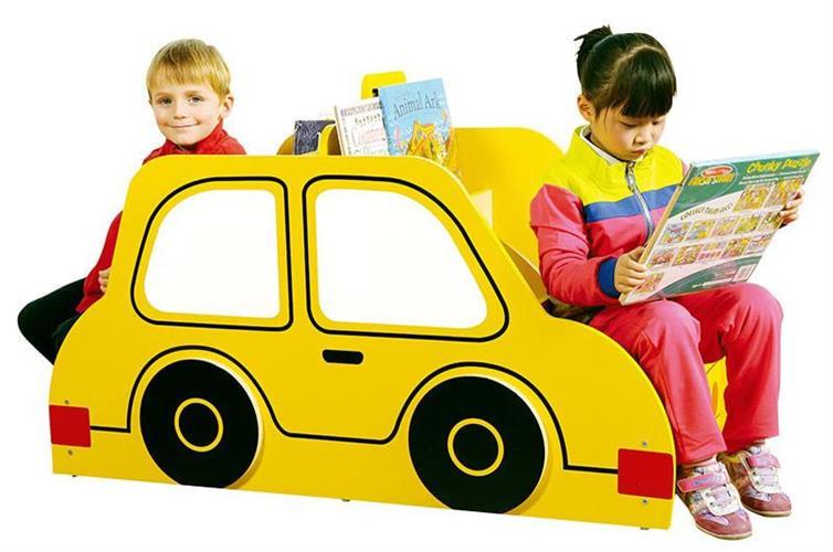 ספריה + שני ספסלי ישיבה דגם מכונית
