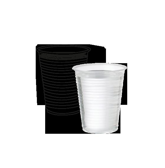 כוסות פלסטיק שקוף 100יח'  גולף קרטון  30 שרוול