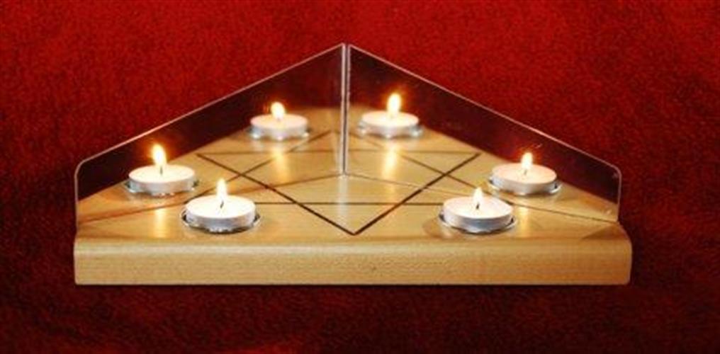 מגש להדלקת נרות שבת בסגנון האנוסים