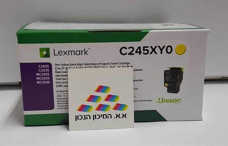 טונר צהוב מקורי Lexmark C2425,MC2425 C245XY0 3.5K