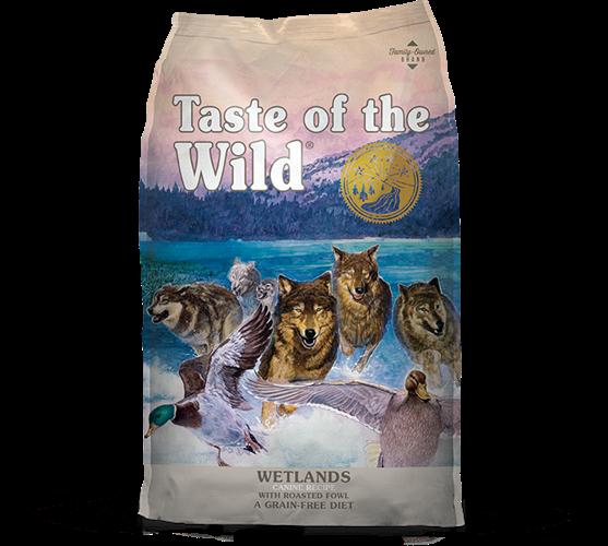 """מזון יבש לכלבים בטעם ברווז ללא דגנים 12.2 ק""""ג 074198609567 Taste Of The Wild"""