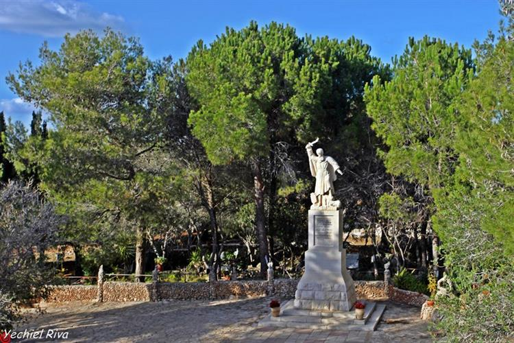 Support Israel and get this picture: Statue of the prophet Elijah on Mount Carmel