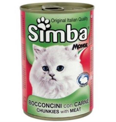 סימבה לחתול 400 גר שימורי הודו וכליות