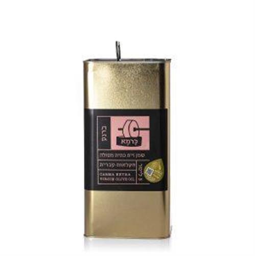 שמן זית כתית מעולה כרמא  ראשון המסיק - ברנע, פח 5 ליטר