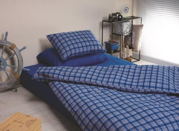 מצעים למיטת יחיד 100% כותנה - פריד דגם סיגמה
