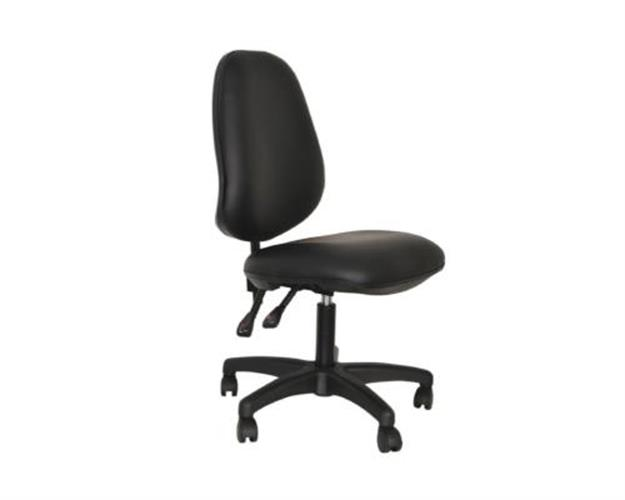 כיסא פאנטומי אורטופדי שחור עם חישוק K-03