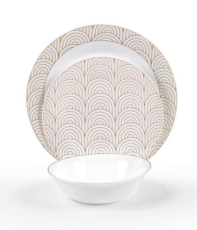 צלחות זכוכית מעוצבות SEAMLESS TEXTURES מבית פוד אפיל (Food Appeal), 18 חלקים