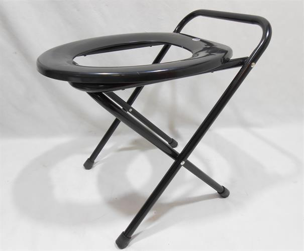 אסלה מתקפלת כיסא אסלה מתקפלת צבע  שחור להניח בכל מקום שצריך
