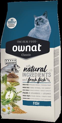 """אוונט OWNAT קלאסיק דגים אוכל לחתול בוגר 4 ק""""ג"""