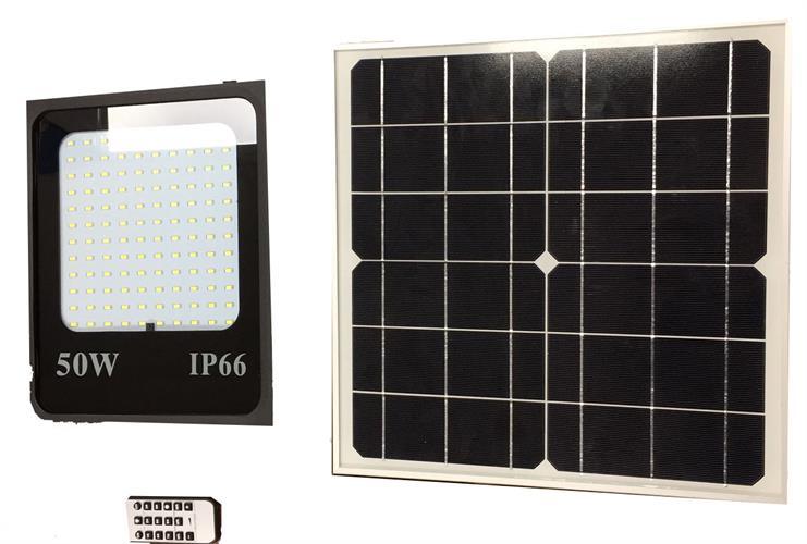 פרוזקטור סולארי 50 ואט עם שלט