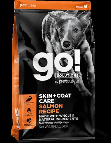 """815260000871 מזון יבש לכלבים מכל הגילאים הסובלים מאלרגיות סלמון 11.3 ק""""ג GO!"""