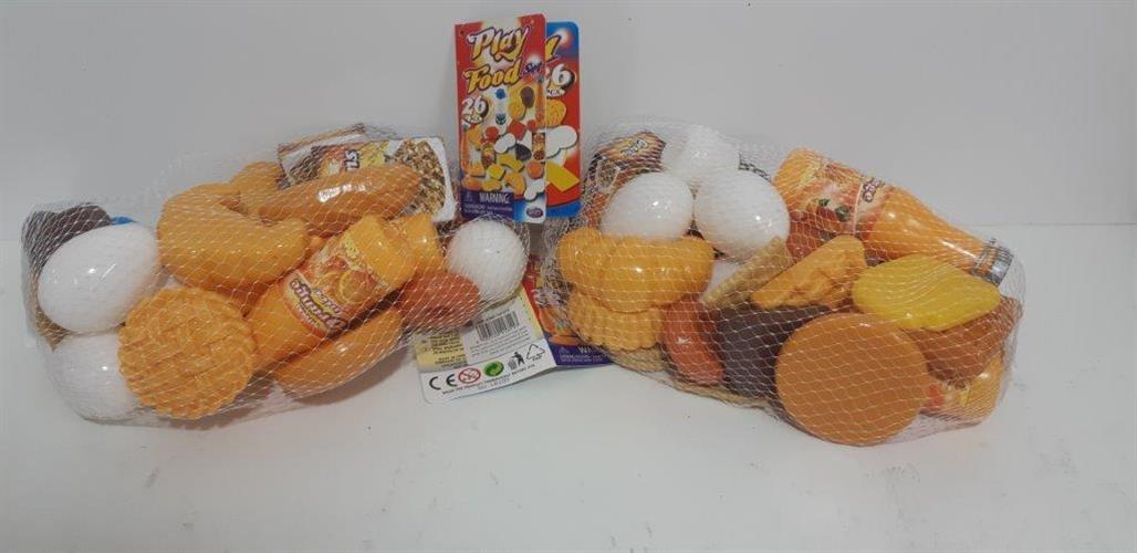 שקית מוצרי מזון עם אוכל -פלסטיק קשיח