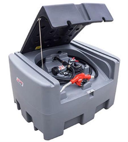 טנק מיכל סולר  400 ליטר לאספקת סולר לשטח עם משאבה  40 ליטר לדקה 12 וולט מובנית ואקדח מילוי