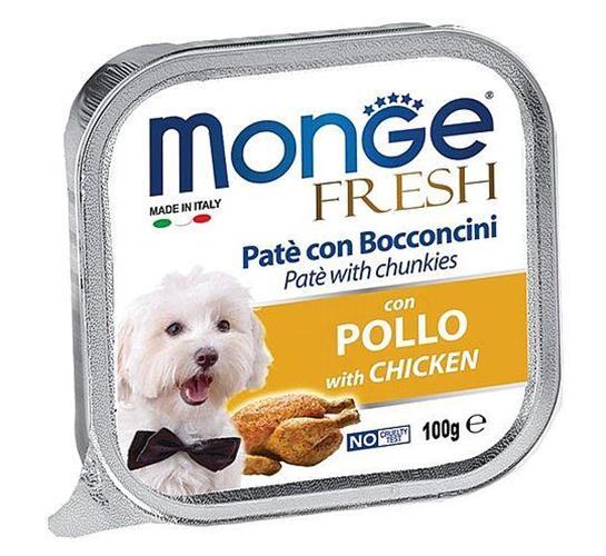 מעדן לכלבים MONGE פרש פטה עם עוף 100 גר'