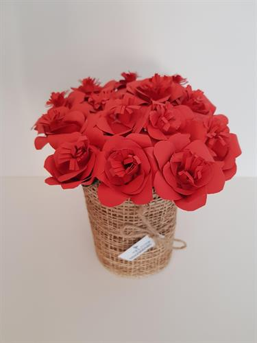 זר ורד אדום