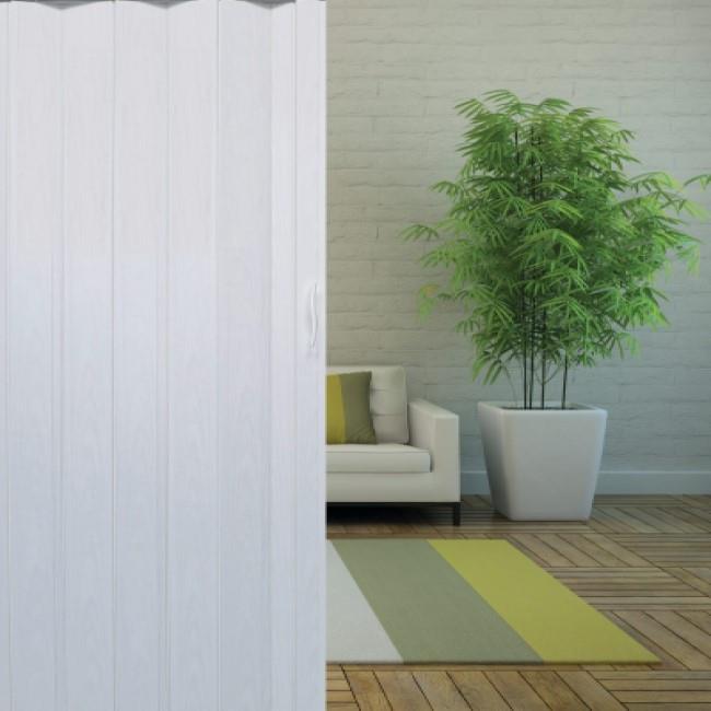 דלת מתקפלת - לבן  אופוויט