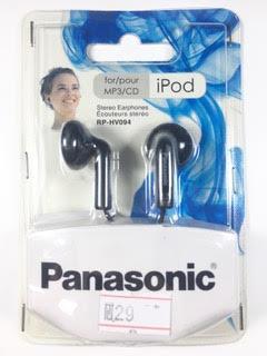 אוזניות פנסוניק Panasonic RP-HV094 כפתור בצבע שחור