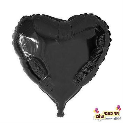 בלון לב 18 אינץ' שחור (ללא הליום)