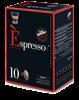 מארז קפסולות [10 יחידות 1.9₪ ליחידה] להכנת קפה אספרסו CREMOSO [אדום] בטעם קרמי (תואמות Nespresso)