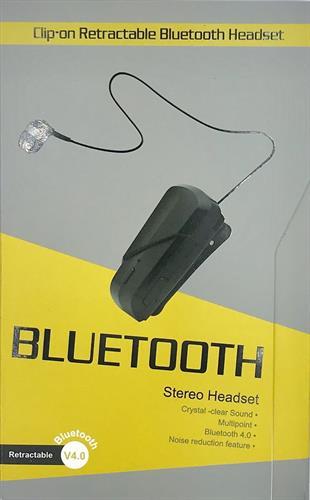 אוזניית בלוטוס חוט נגללת - קליפ