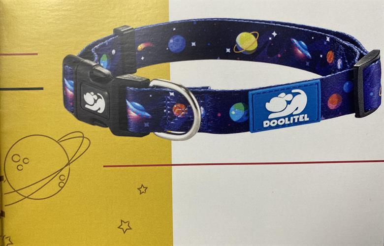 סט קולר+רצועת הולכה דגם חלל מידה m