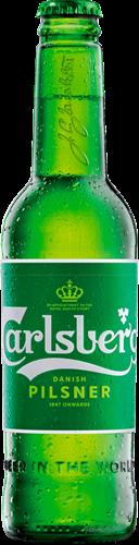 """בירה קרלסברג ת. חוץ בקבוק 330 מ""""ל  24 יח'"""