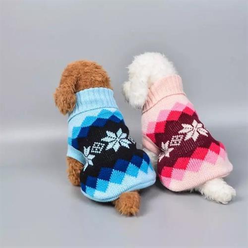 סוודר לכלב גזע קטן מידה S לכלב במשקל עד 5 קג כחול