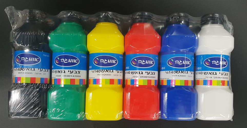 גואש צבעוני 6 צבעים