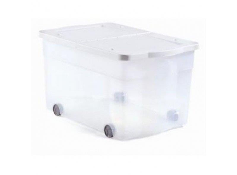 קופסת אחסון כתר דגם פליפ 65 ליטר + גלגלים