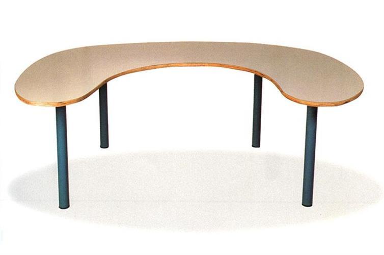שולחן פרסה רגל מתכת - 6 ילדים