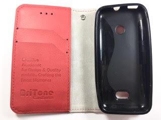 מגן ספר ברייטון BriTone לנוקיה 208 NOKIA בצבע אדום