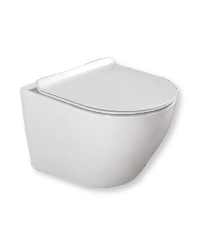 סט אסלה תלויה מדגם מיאמי + מיכל גרואה + לחצן + מושב