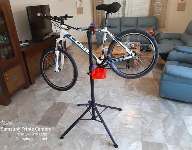 מתקן חצובה לתיקון אופניים קמפינג לייף