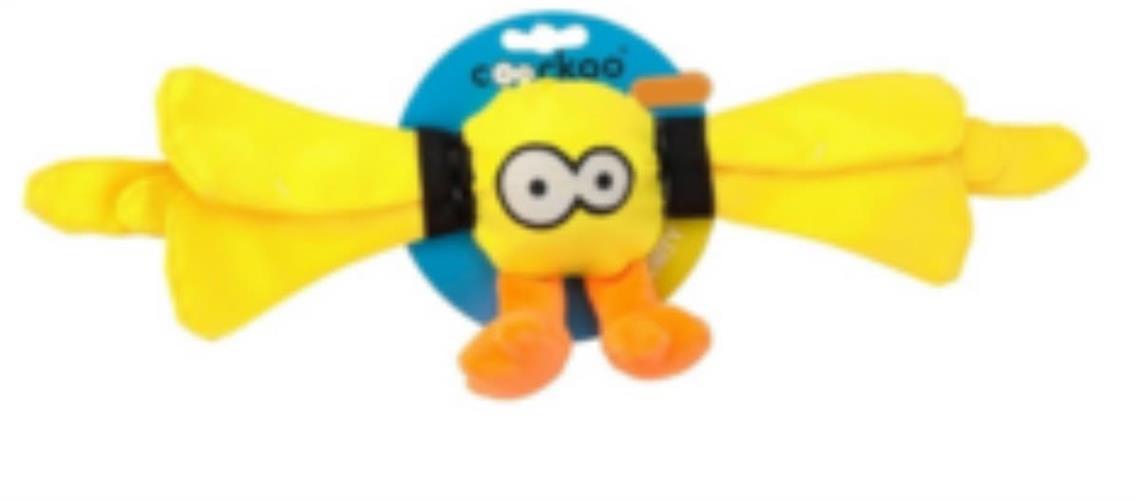 Ckoockoo קצר צעצוע מצפצף  לכלב צבע צהוב