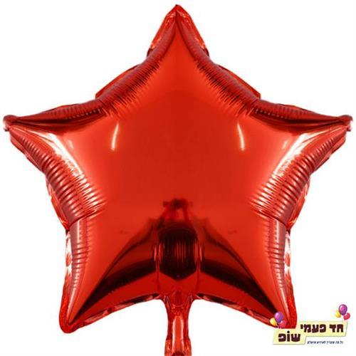 בלון כוכב 18 אינץ' אדום (ללא הליום)