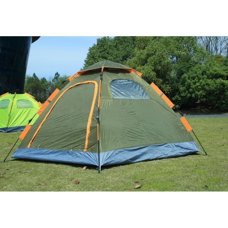 אוהל משפחתי ל-6 אנשים מנגנון פתיחה מהירה אוטומטי אוהל שתי שכבות, ציפוי כסף אנטי UV פנימי