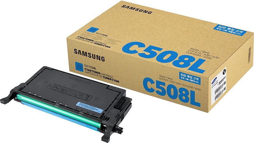 טונר מקורי כחול CLT-C508L לדגם סמסונג CLX-6220FX,CLP-620,670ND