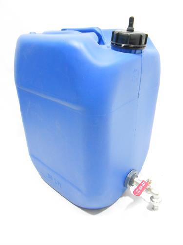 מיכל עם ברז גריקן 30 ליטר צבע כחול מתאים  ועם תקן למי שתיה