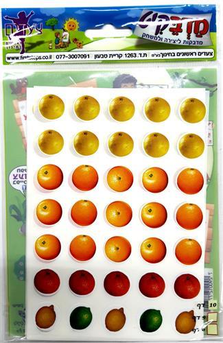 מדבקות פירות הדר