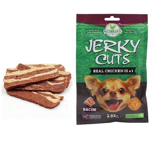 חטיף לכלבים ג'רקי רצועות בייקון 80 גרם