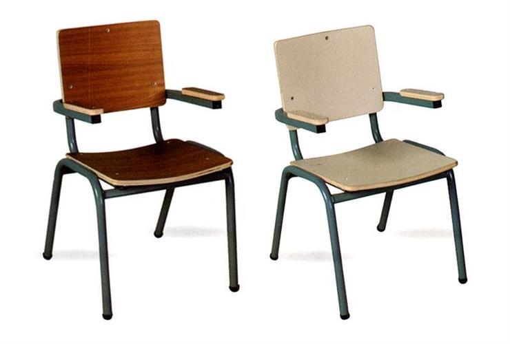 כיסא רגל מתכת עם ידית
