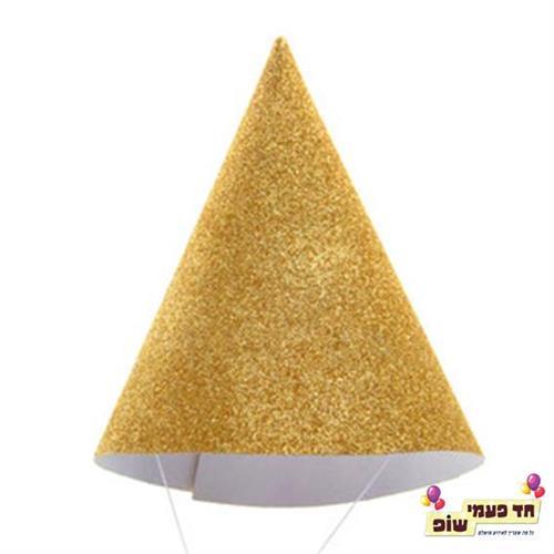 כובע מסיבה גליטר זהב