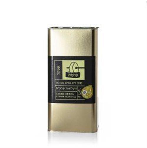 שמן זית כתית מעולה כרמא  ראשון המסיק - אסקל, פח 5 ליטר