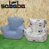 סבבה פוף כורסא לילדים מעוצבת בסגנון עיתון מבד דמוי עור