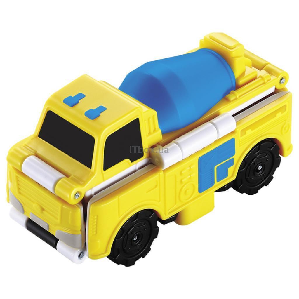 טרנסרייסר- 2 ב-1 מערבל בטון ומשאית חפירות