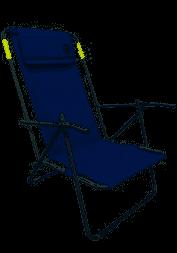 כיסא ים חוף מתקפל - גב גבוה