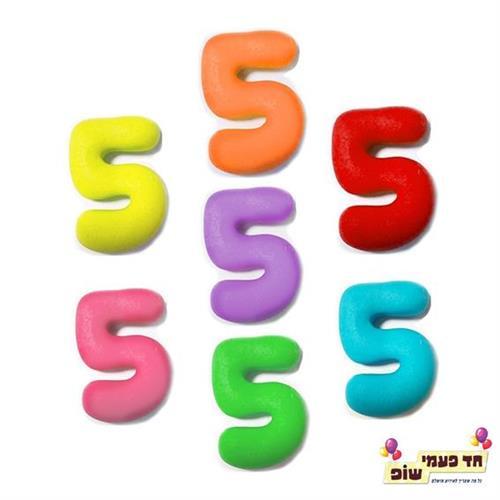 מספרים בצק סוכר 5