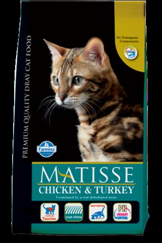 """מזון לחתולים מאטיס עוף והודו 10 ק""""ג"""